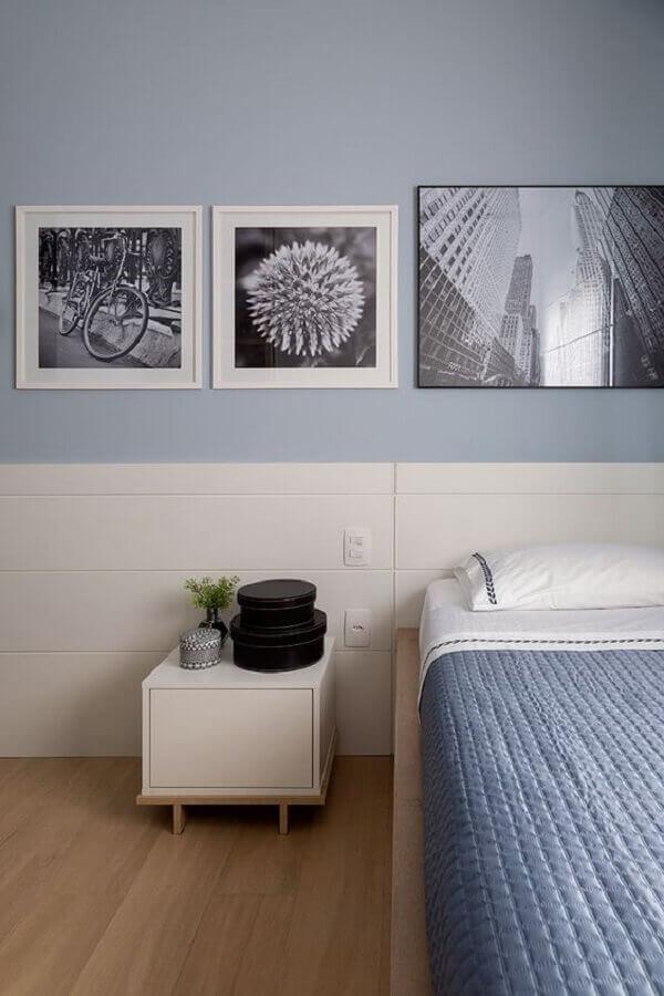 cores de tinta para quarto masculino azul e branco  Foto Casa de Valentina