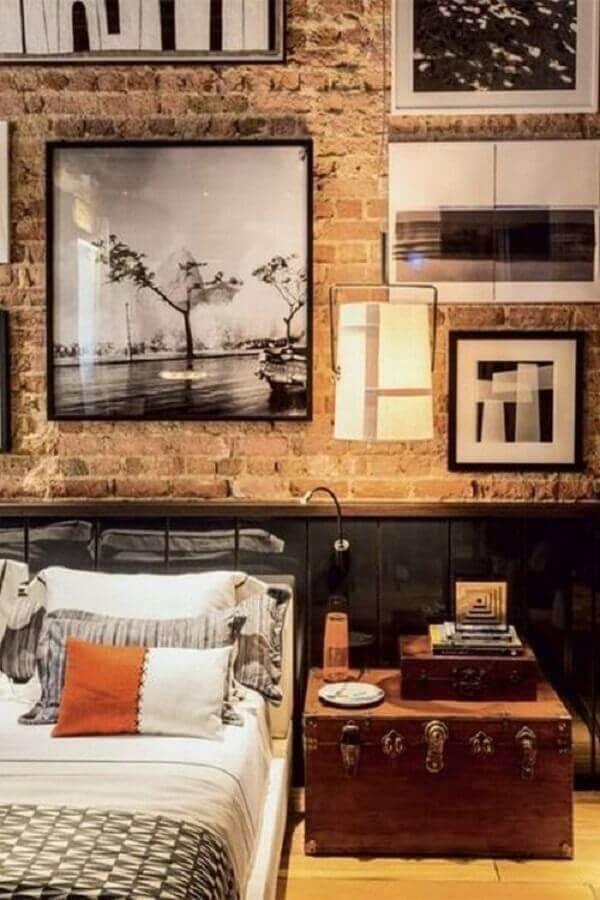cores para quarto masculino decorado com estilo industrial Foto Encadreé Posters