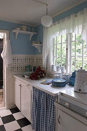 Cortina para pia de cozinha moderna