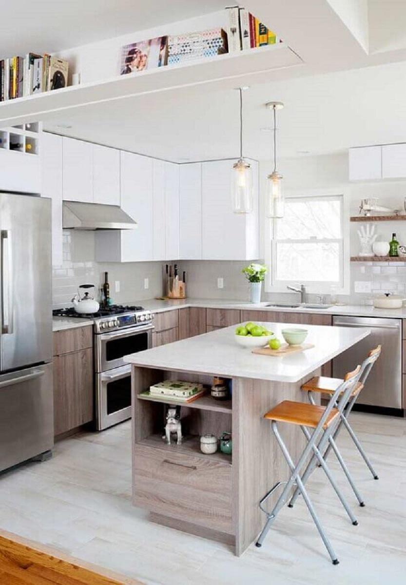 cozinha sob medida com ilha pequena Foto Apartment Therapy