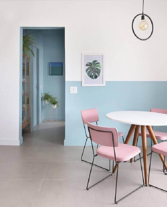 decoração candy colors para casa minimalista Foto Histórias de Casa