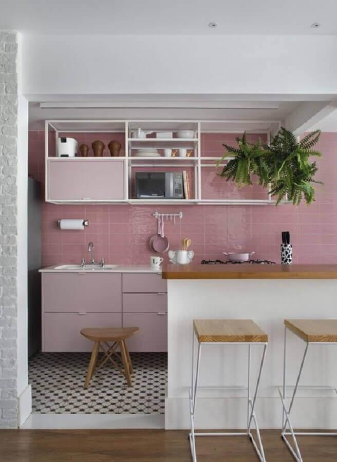 decoração candy colors para cozinha rosa Foto Jeito de Casa