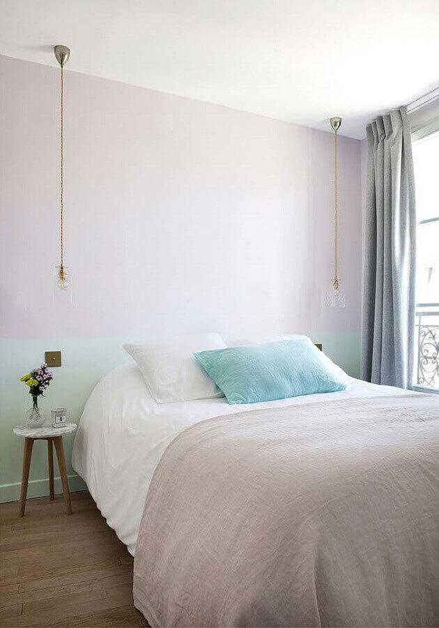 decoração candy colors para quarto de casal minimalista Foto Eu Capricho