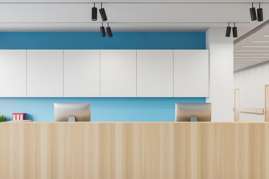 decoração de clínica moderna