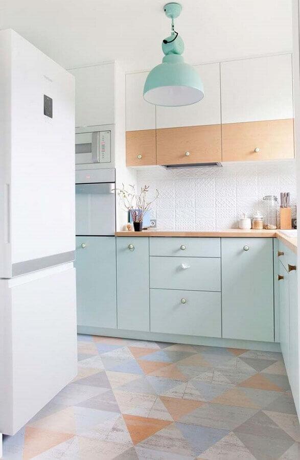 decoração de cozinha candy colors Foto Pinterest