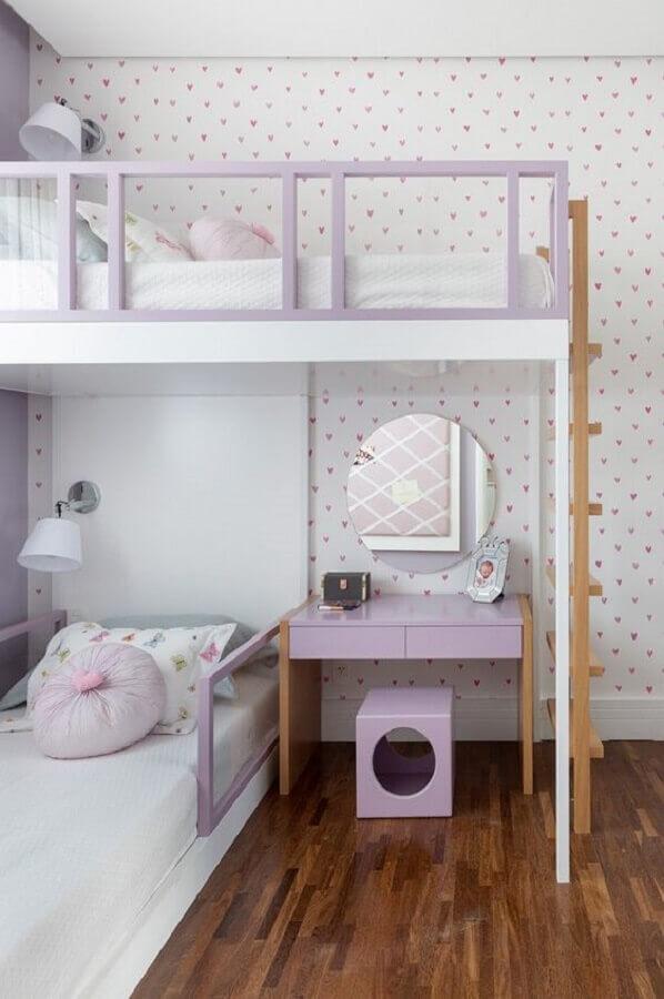 decoração de quarto candy colors lilás e branco Foto Foto Karen Pisacane