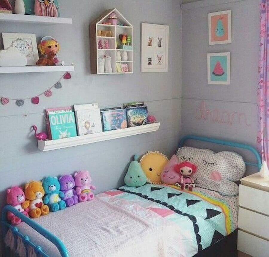 decoração de quarto infantil pequeno simples Foto Festejar Kids