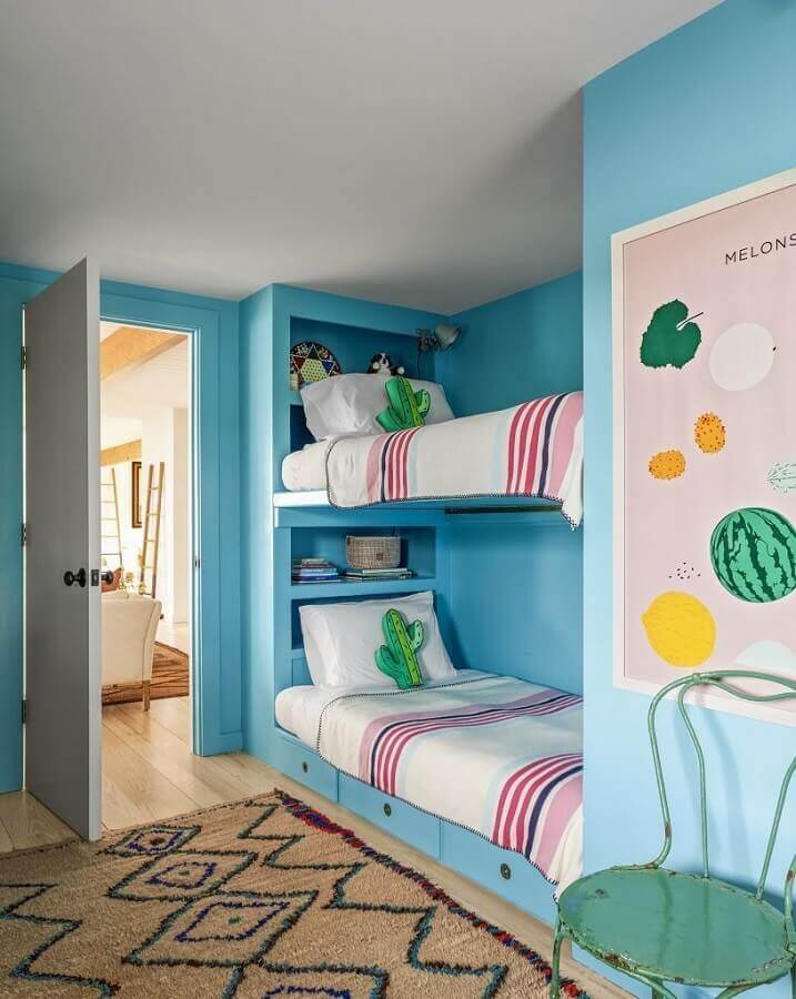 decoração de quarto infantil sob medida colorido Foto Hardecor