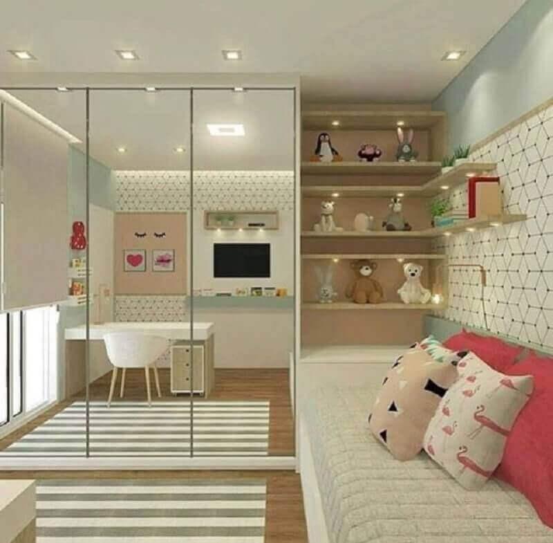 decoração de quarto infantil sob medida feminino Foto Casa de Valentina