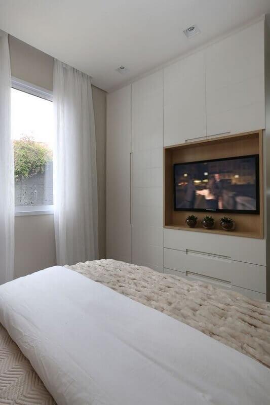 decoração de quarto sob medida casal Foto Jeito de Casa