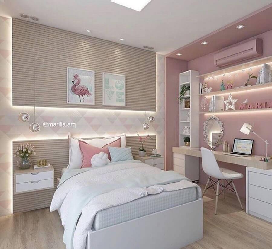 decoração de quarto sob medida solteiro feminino Foto Pinterest