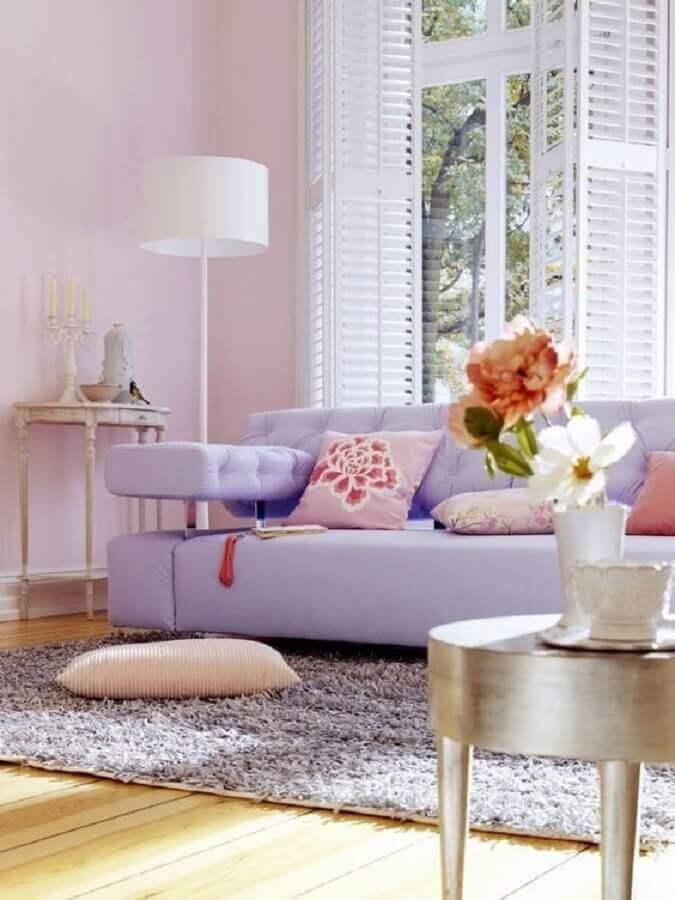 decoração de sala com cores candy colors Foto Pinterest