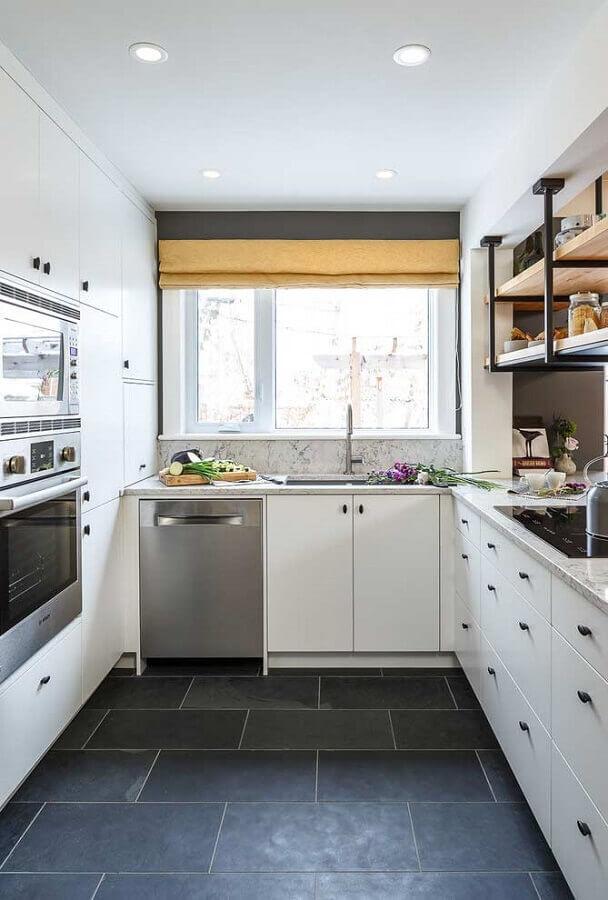 decoração simples para cozinha sob medida em U Foto Futurist Architecture