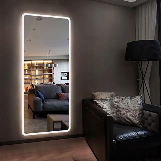 Espelho camarim led ao redor