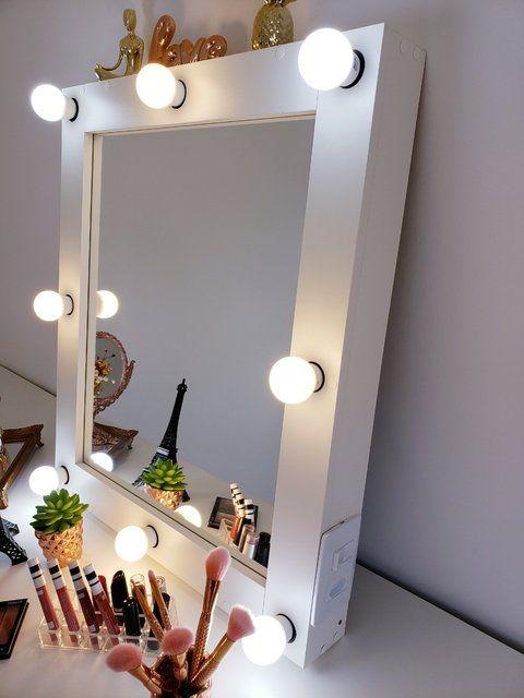 Espelho camarim pequeno na penteadeira