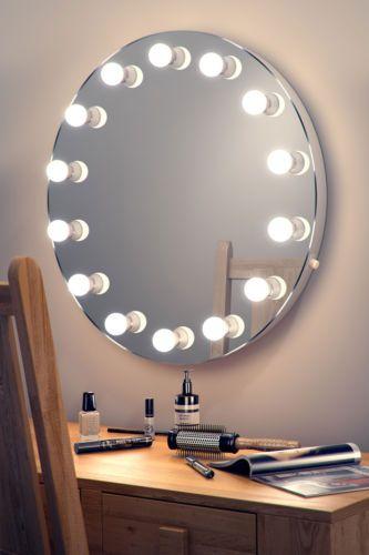 Espelho camarim de parede redondo
