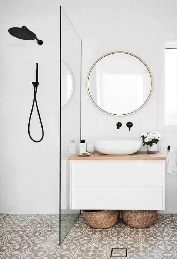 espelho redondo para banheiro minimalista Foto Home Fashion Trend