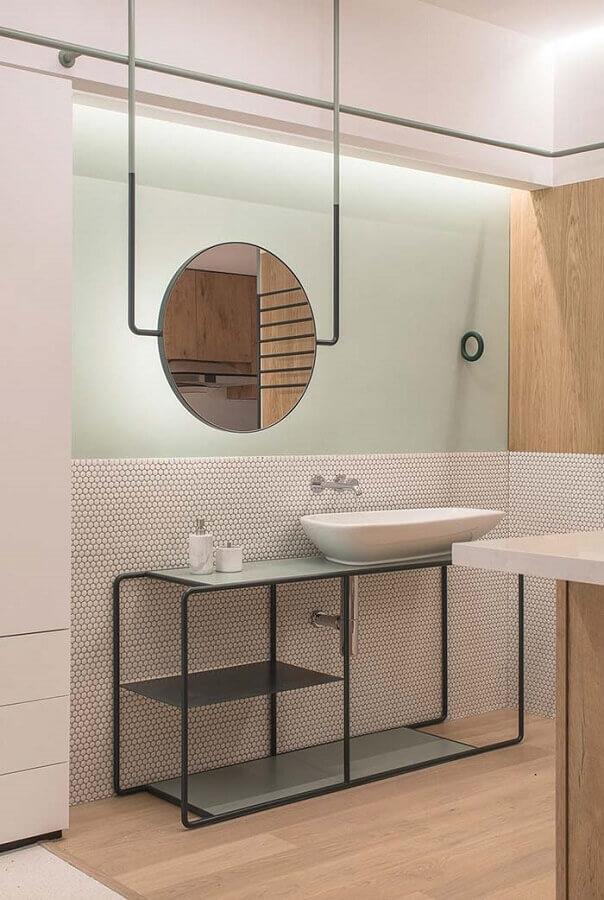 espelho redondo para banheiro moderno minimalista Foto ArchDaily