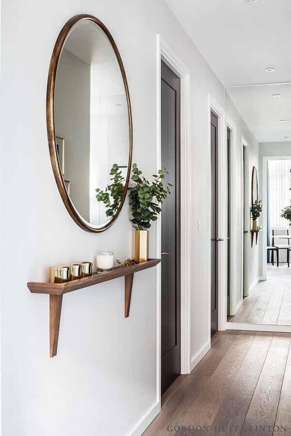 espelho redondo para decoração de parede branca Foto Houzz