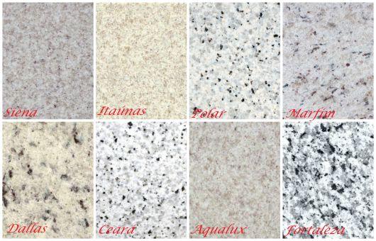 Cores de granito branco