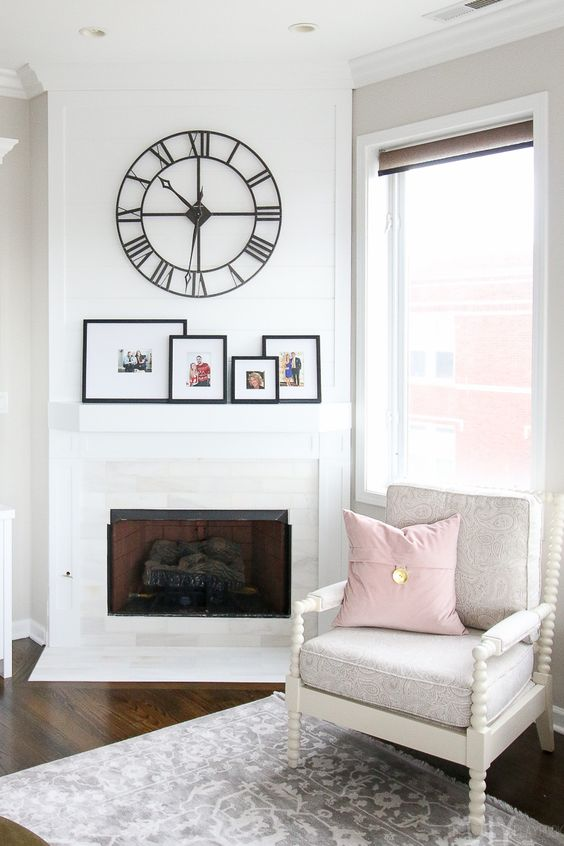 Sala de estar clean para cantinho de leitura