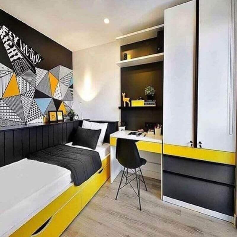 móveis sob medida quarto de solteiro jovem Foto Pinterest