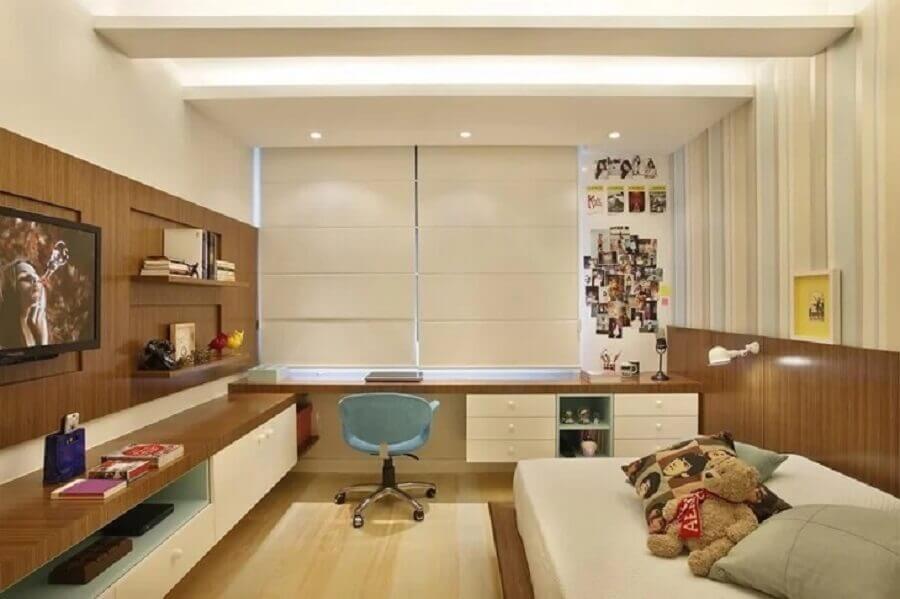móveis sob medida quarto de solteiro marcenaria Foto Roberta Devisate
