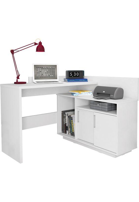 Mesa de canto para computador e impressora