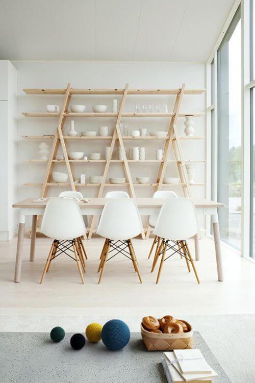 Mesa pé palito com mesa de jantar