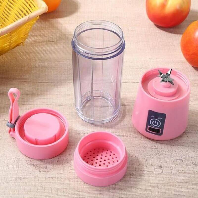 modelo de liquidificador portátil usb rosa Foto Inova