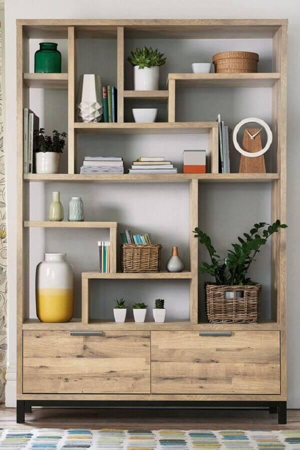 modelo simples de estante de nichos de madeira Foto Pinterest