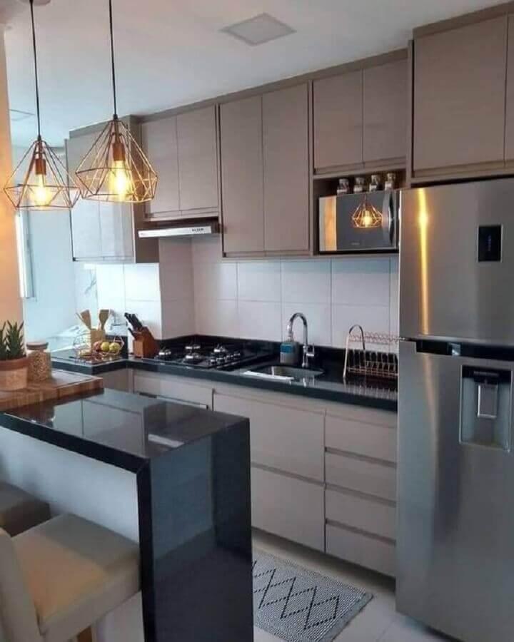 modelos de cozinha americana sob medida pequena Foto Jeito de Casa