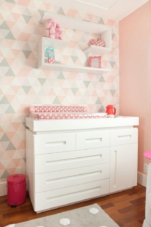 papel de parede candy colors para quarto de bebê feminino Foto Pinterest
