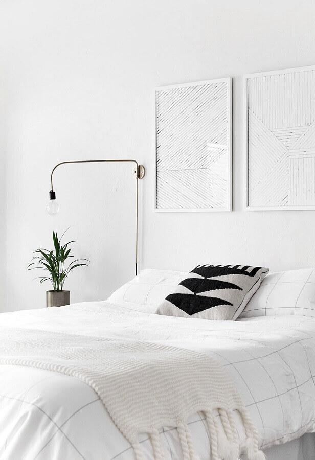 parede branca para decoração de quarto minimalista Foto Home Oh My