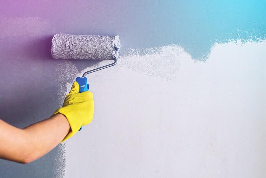 pintura de parede colorida