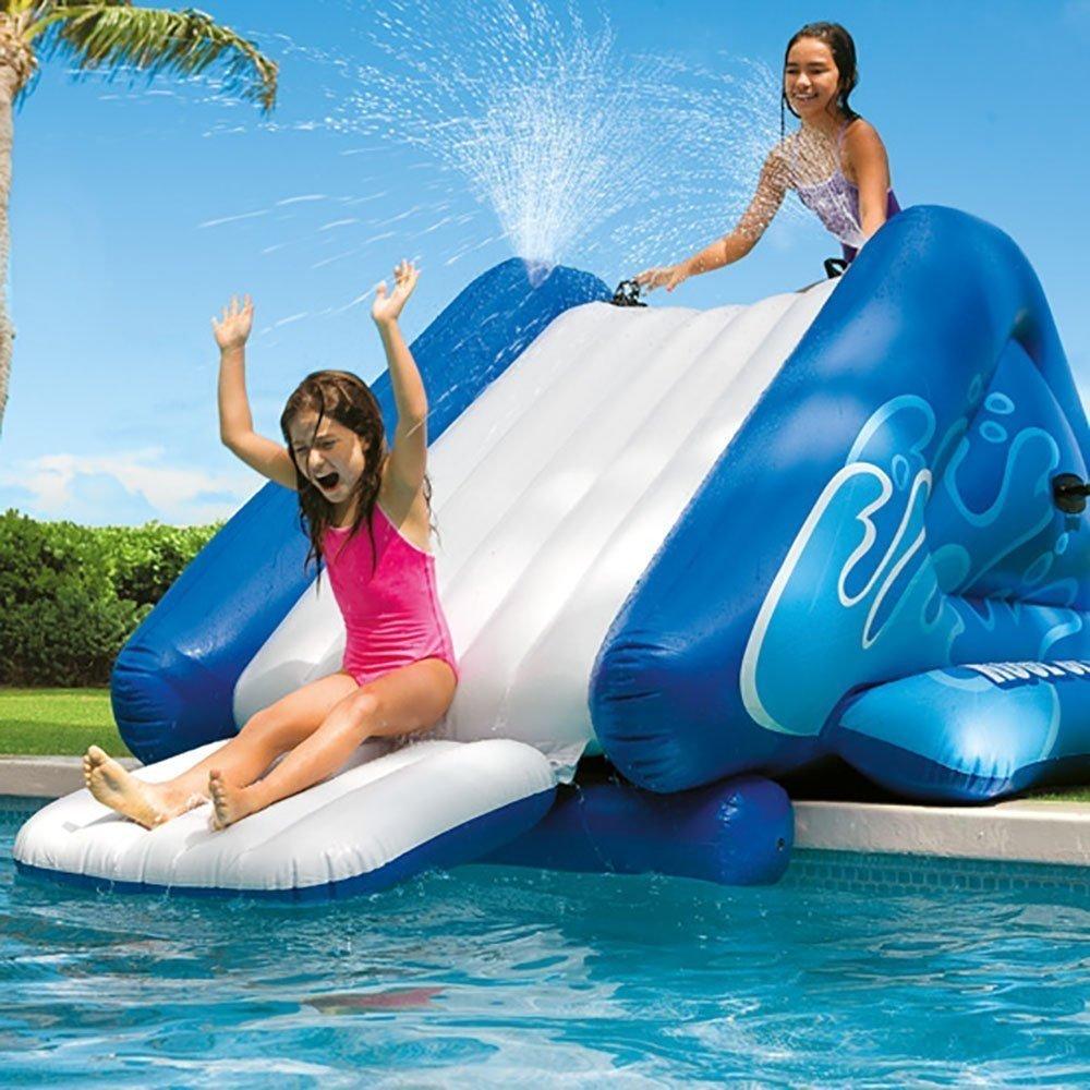 Piscina infantil com escorregador inflável