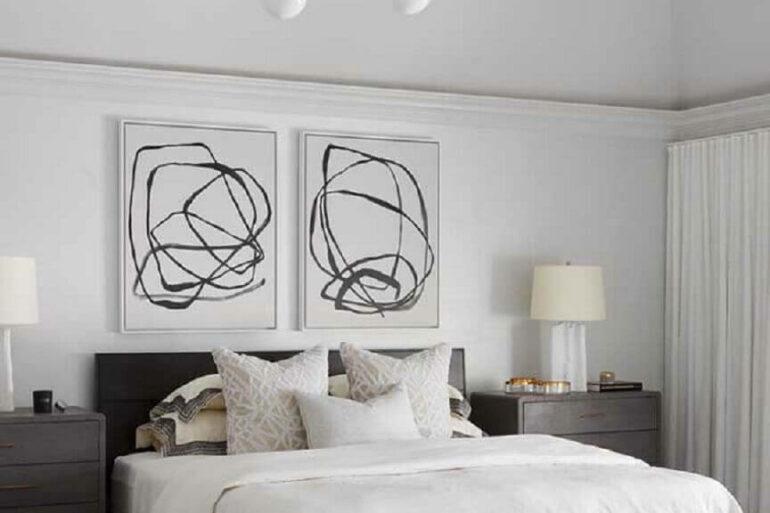 quadros para cabeceira de quarto de casal Foto Pinterest