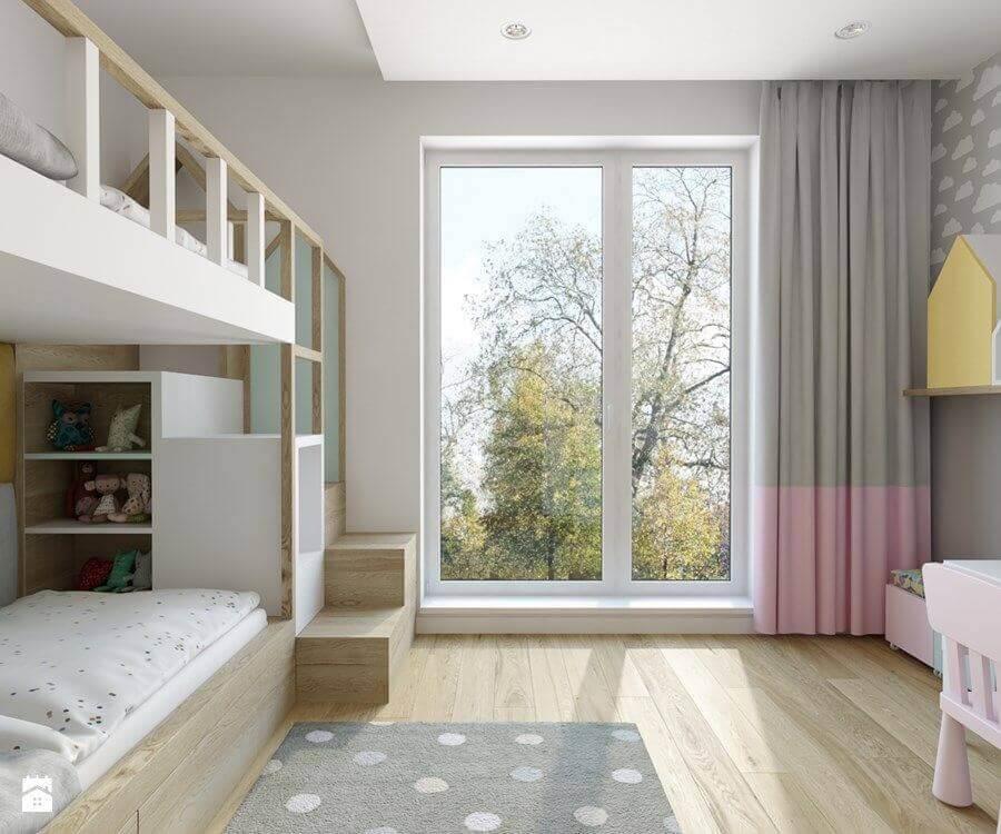 quarto infantil sob medida com cama dois andares Foto Eu Decoro