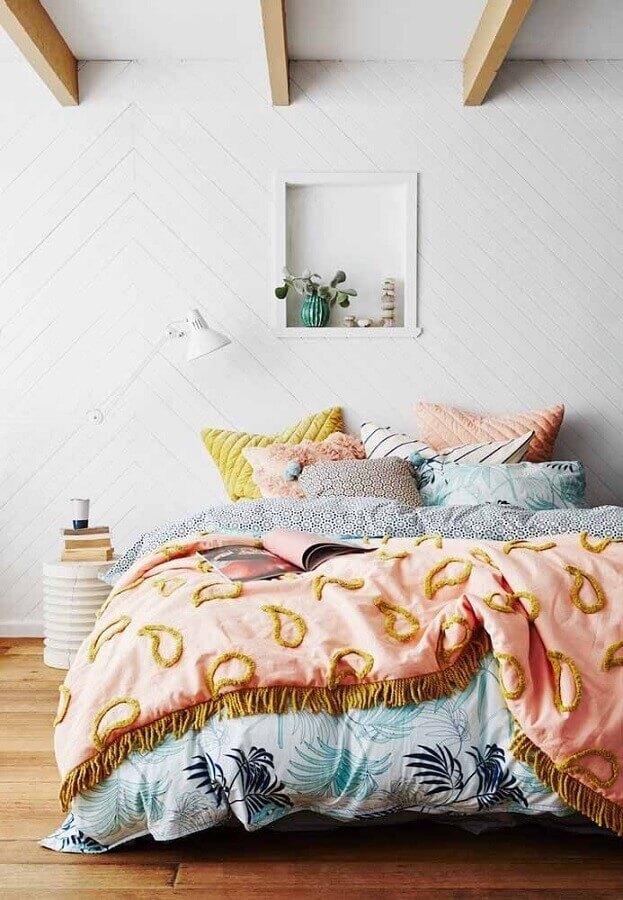 textura parede branca para decoração de quarto simples Foto Pinterest