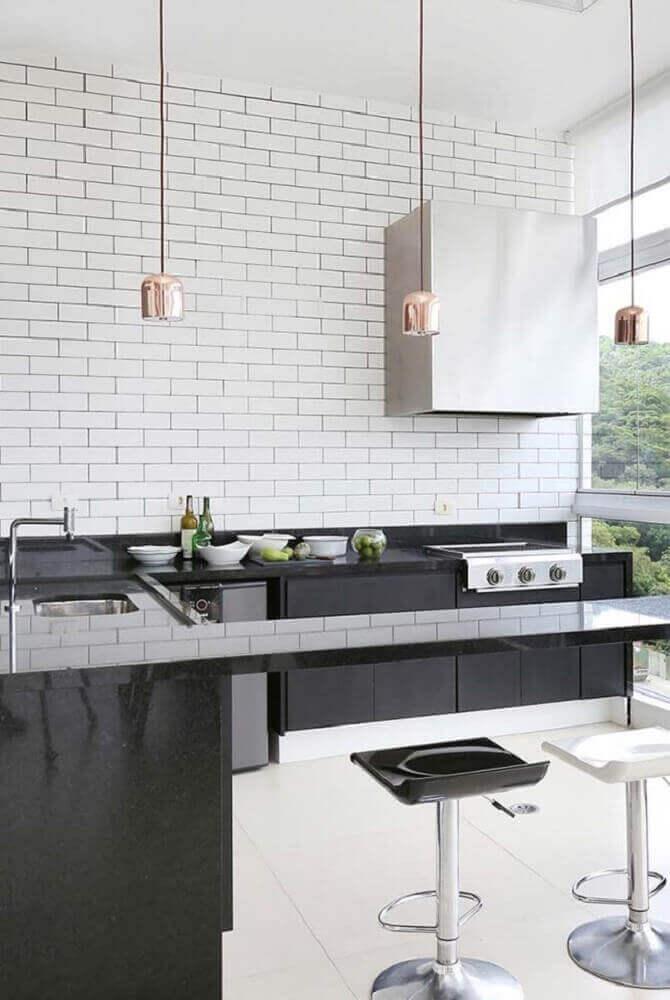 Cores de granito preto para cozinha bem decorada