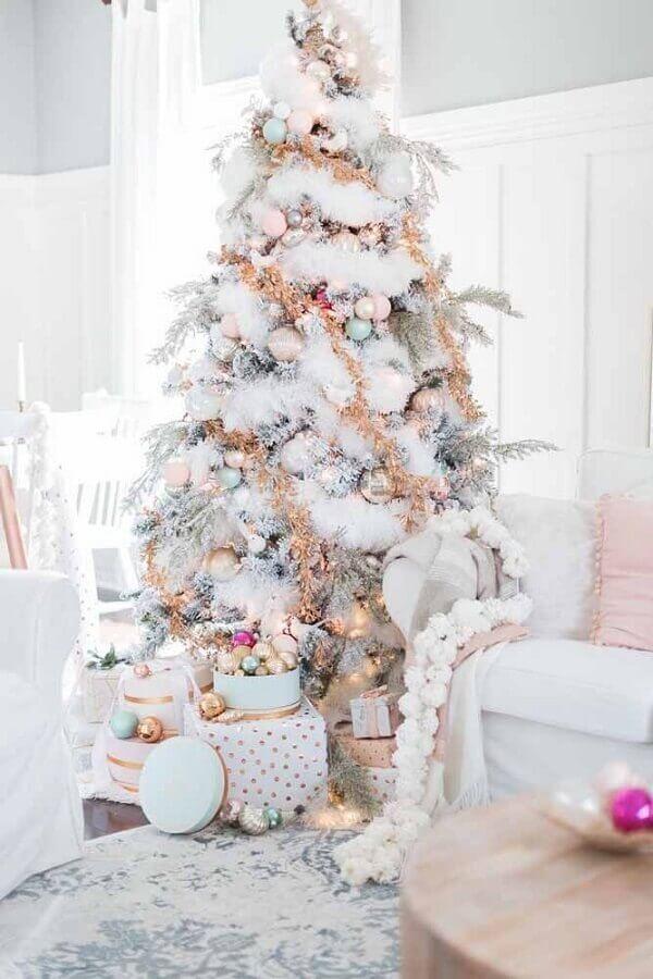 big white Christmas tree Photo Home Furniture