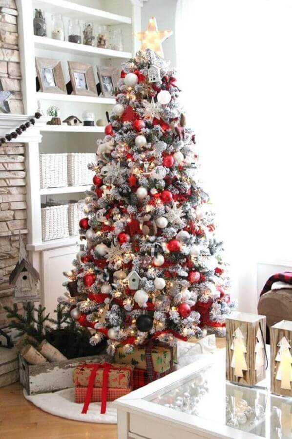large and full white Christmas tree Photo The Decorated House