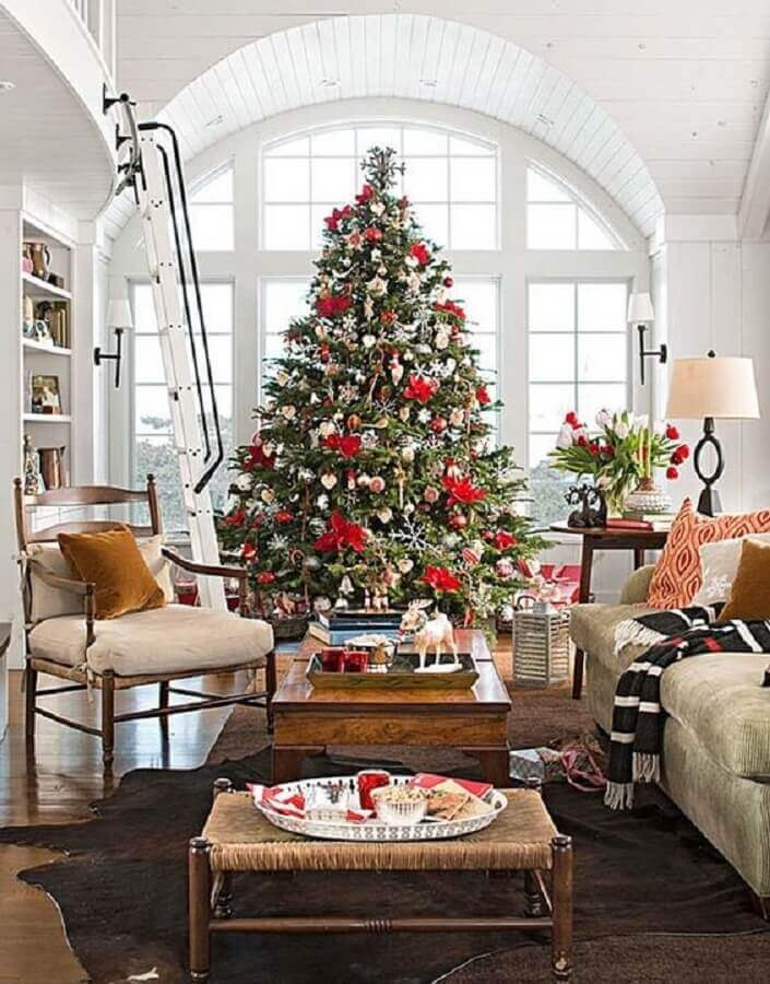 large and full Christmas tree for large planned room decoration Photo One Kindesign