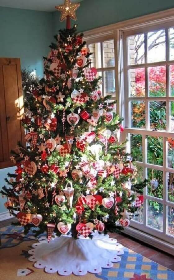 Large decorated Christmas tree Foto Pinterest