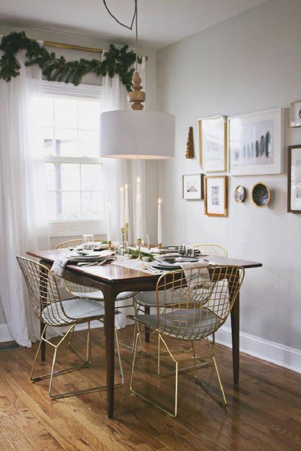 A cadeira Bertoia apresenta um design diferenciad