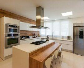 O plafon de embutir é muito usado na cozinha
