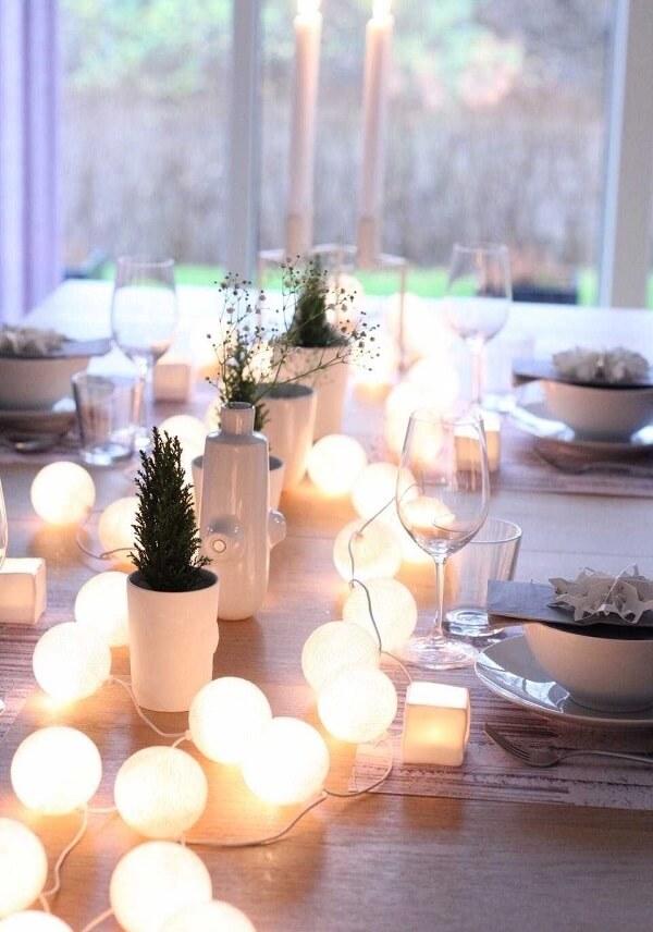 Como fazer cordão de luz e montar uma linda composição de centro de mesa
