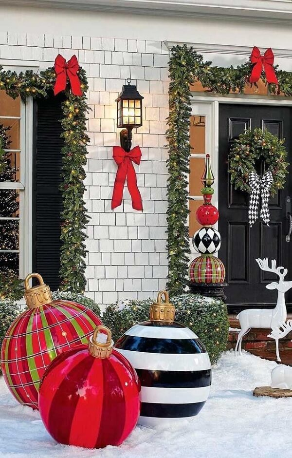 Christmas decoration for colorful outdoor garden