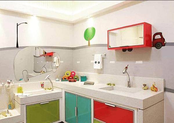 Existem muitas formas de se decorar um banheiro infantil