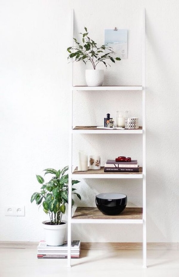 Modelo de estante escada simples